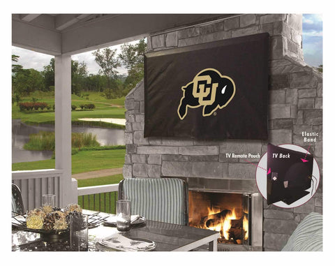 Colorado Buffaloes HBS Black Breathable Water Resistant Vinyl TV Cover