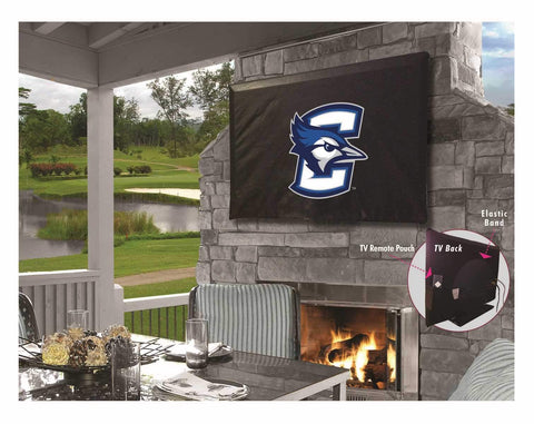 Creighton Bluejays HBS Black Breathable Water Resistant Vinyl TV Cover