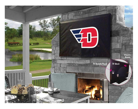 Dayton Flyers HBS Black Breathable Water Resistant Vinyl TV Cover