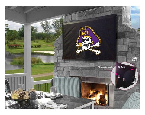 Shop East Carolina Pirates Black Breathable Water Resistant Vinyl TV Cover - Sporting Up