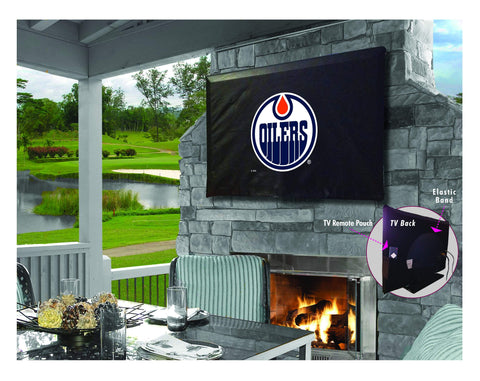 Edmonton Oilers HBS Breathable Water Resistant Vinyl TV Cover
