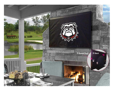 Georgia Bulldogs HBS Bulldog Breathable Water Resistant Vinyl TV Cover