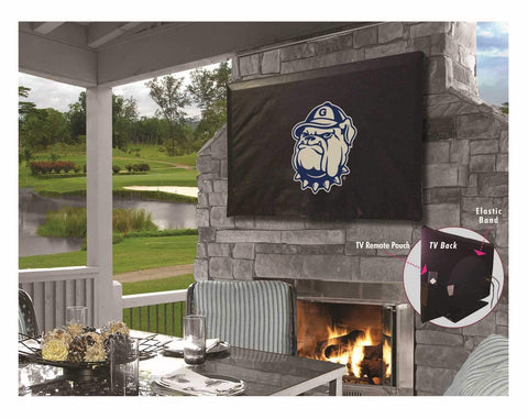 Georgetown Hoyas HBS Black Breathable Water Resistant Vinyl TV Cover