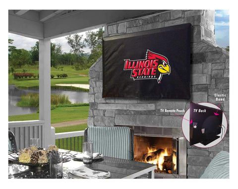 Illinois State Redbirds Breathable Water Resistant Vinyl TV Cover