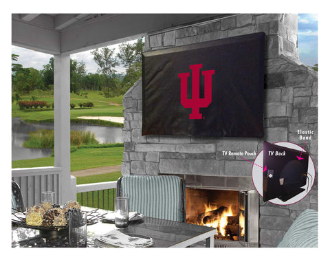 Indiana Hoosiers HBS Black Breathable Water Resistant Vinyl TV Cover