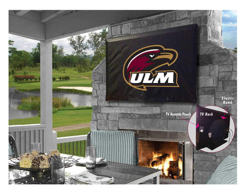 ULM Warhawks HBS Black Breathable Water Resistant Vinyl TV Cover