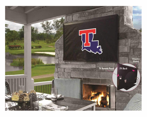 Louisiana Tech Bulldogs HBS Breathable Water Resistant Vinyl TV Cover