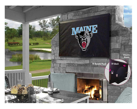 Maine Black Bears HBS Breathable Water Resistant Vinyl TV Cover