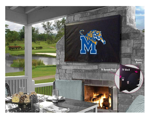 Memphis TIgers HBS Black Breathable Water Resistant Vinyl TV Cover - Sporting Up