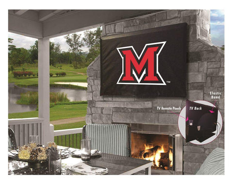 Miami University Redhawks Breathable Water Resistant Vinyl TV Cover
