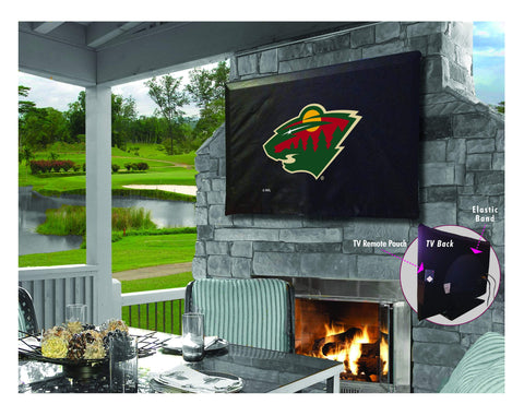Minnesota Wild HBS Breathable Water Resistant Vinyl TV Cover