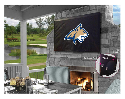 Montana State Bobcats Black Breathable Water Resistant Vinyl TV Cover