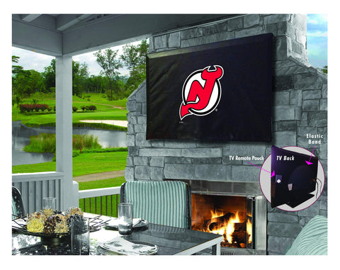New Jersey Devils HBS Breathable Water Resistant Vinyl TV Cover