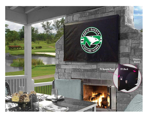 North Dakota Fighting Hawks Breathable Water Resistant Vinyl TV Cover - Sporting Up