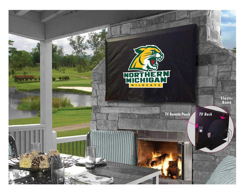 Northern Michigan Wildcats Breathable Water Resistant Vinyl TV Cover