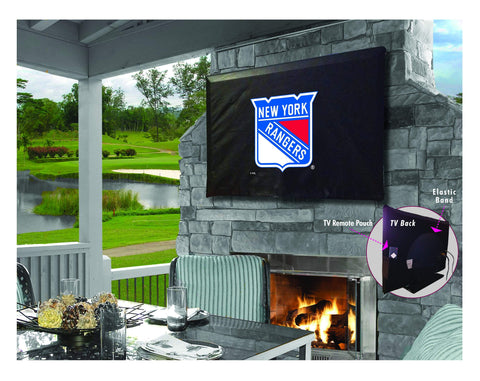 New York Rangers HBS Breathable Water Resistant Vinyl TV Cover