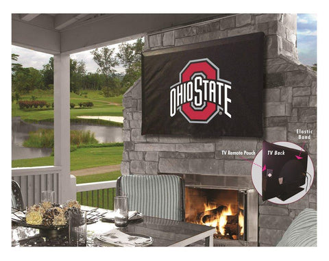 Shop Ohio State Buckeyes Black Breathable Water Resistant Vinyl TV Cover