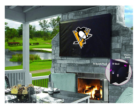 Pittsburgh Penguins Breathable Water Resistant Vinyl TV Cover - Sporting Up