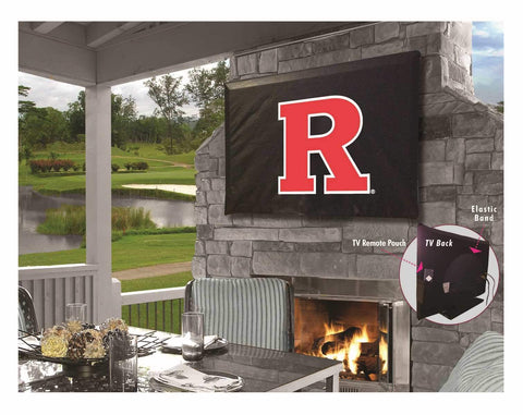 Shop Rutgers Scarlet Knights Breathable Water Resistant Vinyl TV Cover - Sporting Up