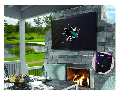 San Jose Sharks HBS Breathable Water Resistant Vinyl TV Cover
