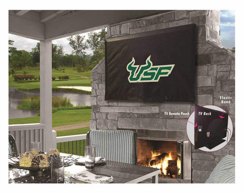 South Florida Bulls Black Breathable Water Resistant Vinyl TV Cover