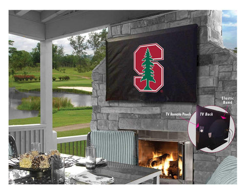 Stanford Cardinal HBS Black Breathable Water Resistant Vinyl TV Cover