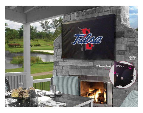 Tulsa Golden Hurricane Black Breathable Water Resistant Vinyl TV Cover