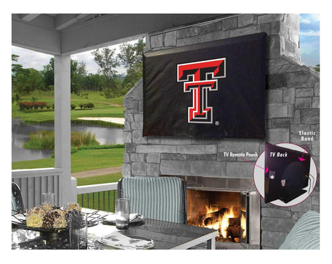 Texas Tech Red Raiders Black Breathable Water Resistant Vinyl TV Cover