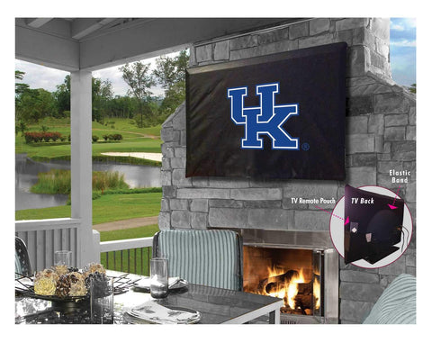 "Shop Kentucky Wildcats ""UK"" Black Breathable Water Resistant Vinyl TV Cover - Sporting Up"