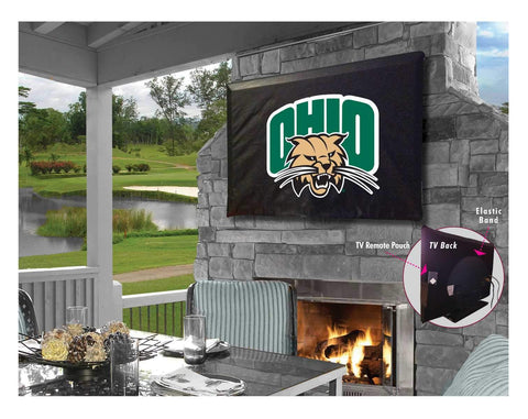 Ohio Bobcats HBS Black Breathable Water Resistant Vinyl TV Cover