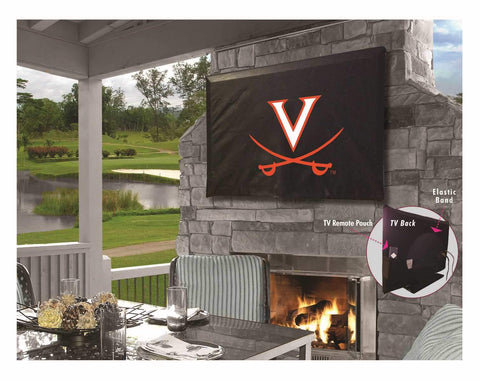 Virginia Cavaliers HBS Black Breathable Water Resistant Vinyl TV Cover