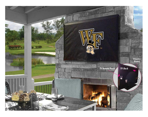 Wake Forest Demon Deacons Breathable Water Resistant Vinyl TV Cover - Sporting Up