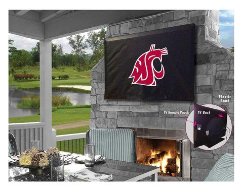 Washington State Cougars Breathable Water Resistant Vinyl TV Cover