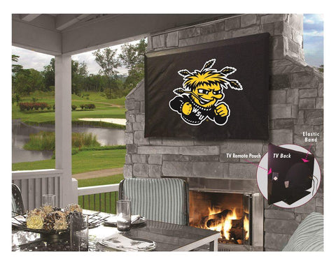 Wichita State Shockers Black Breathable Water Resistant Vinyl TV Cover