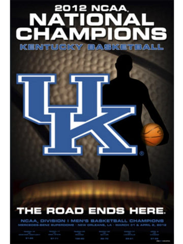 Shop Kentucky Wildcats 2012 Basketball National Champions Final Four Print Poster
