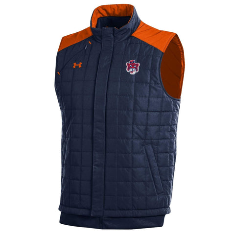 Auburn Tigers Under Armour Midnight Navy Storm Loose Coldgear Full Zip Vest