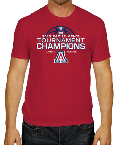 Shop Arizona Wildcats 2015 Pac-12 Tournament Champions Locker Room Red T-Shirt - Sporting Up