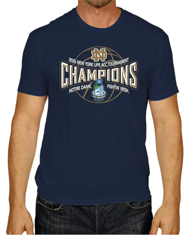 Shop Notre Dame Fighting Irish 2015 ACC Tournament Champions Locker Room Navy T-Shirt