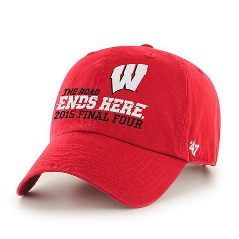 Shop Wisconsin Badgers 47 Brand 2015 Indianapolis Final Four Relax Adjustable Hat Cap - Sporting Up