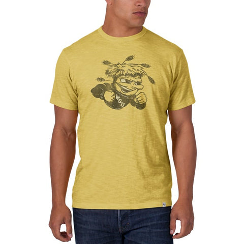 Shop Wichita State Shockers 47 Brand Yellow Black Big Mascot Logo Scrum T-Shirt - Sporting Up