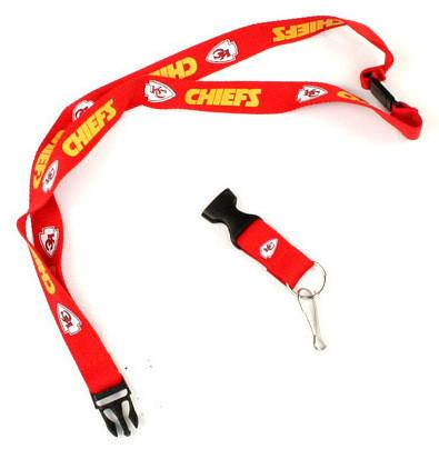 Shop Kansas City Chiefs Pro Specialties Group NFL Red Gold Lanyard - Sporting Up