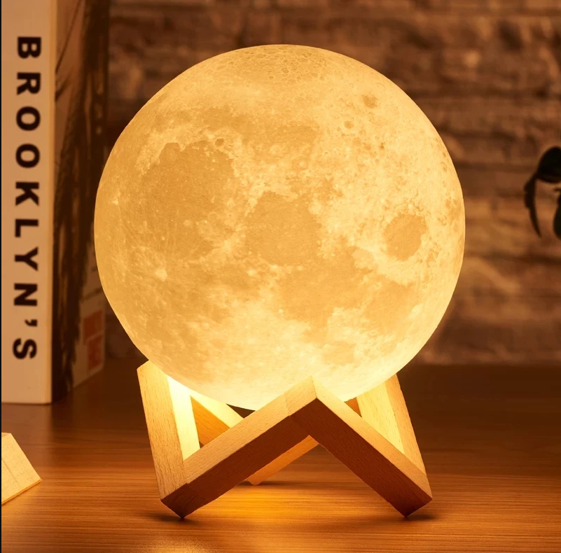 Moon Lamp Touch Realistic Rechargeable