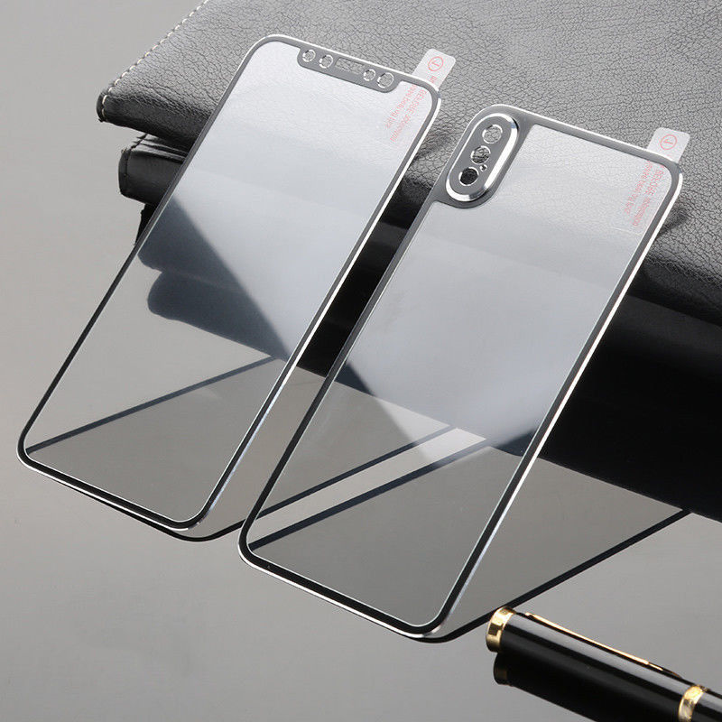 Front And Back Tempered Glass Full Screen Protection Replacement Case Cover for iPhone