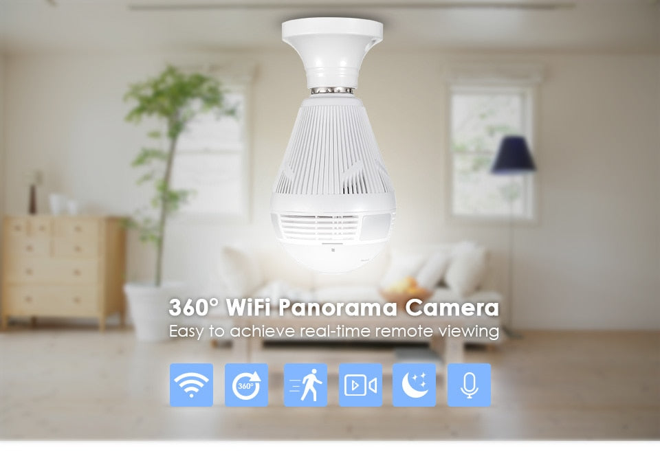 Bulb Camera Live 360 View On Smartphone And PC