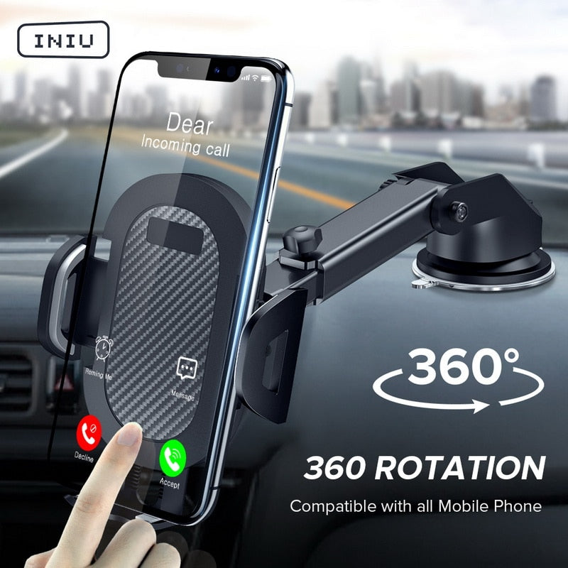 Sucker Car Phone Holder in Car Clip Air Vent Mount No Magnetic Cell Stand Support Mobile Smartphone