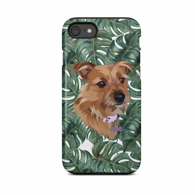Bespoke illustrated pet phone case - lovepaw