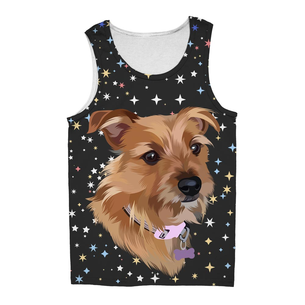 Bespoke illustrated pet tank top - lovepaw