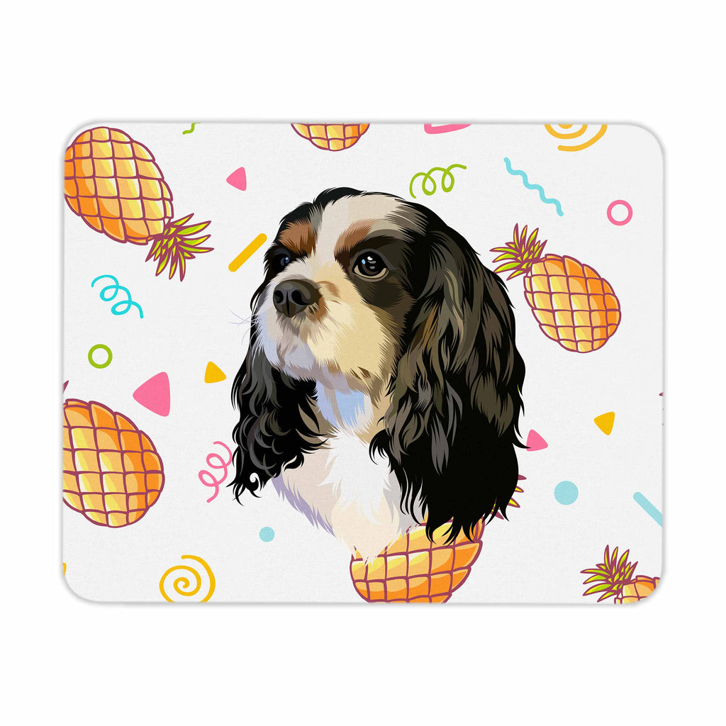 Bespoke illustrated pet mouse pad - lovepaw