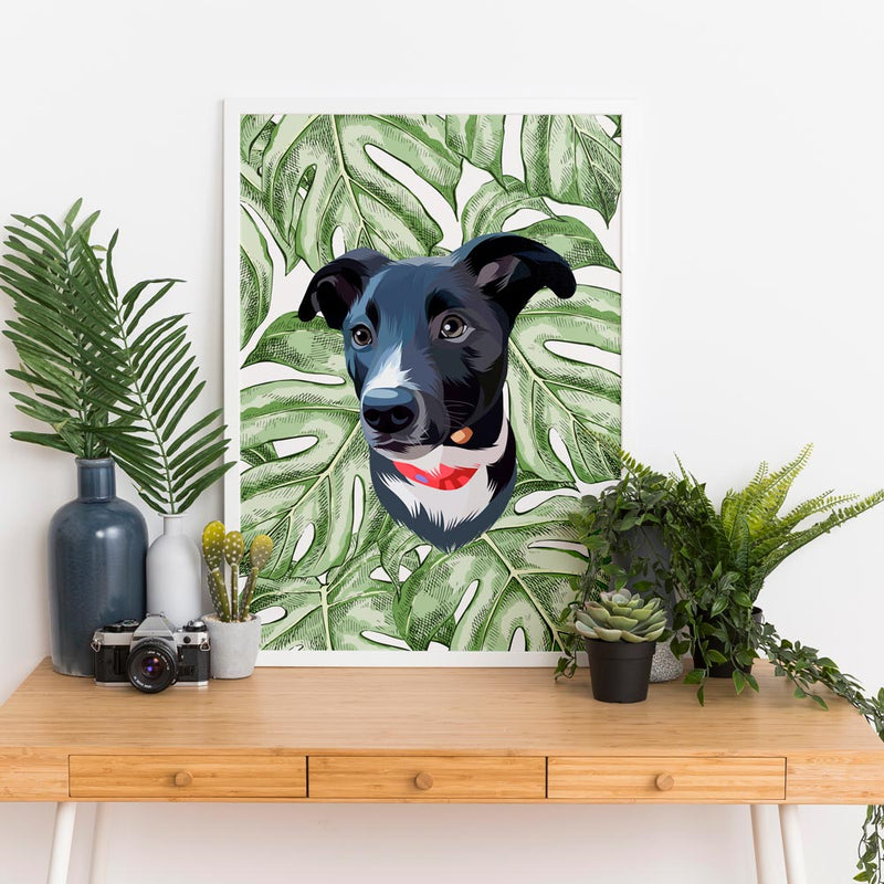 Bespoke illustrated pet portrait - lovepaw