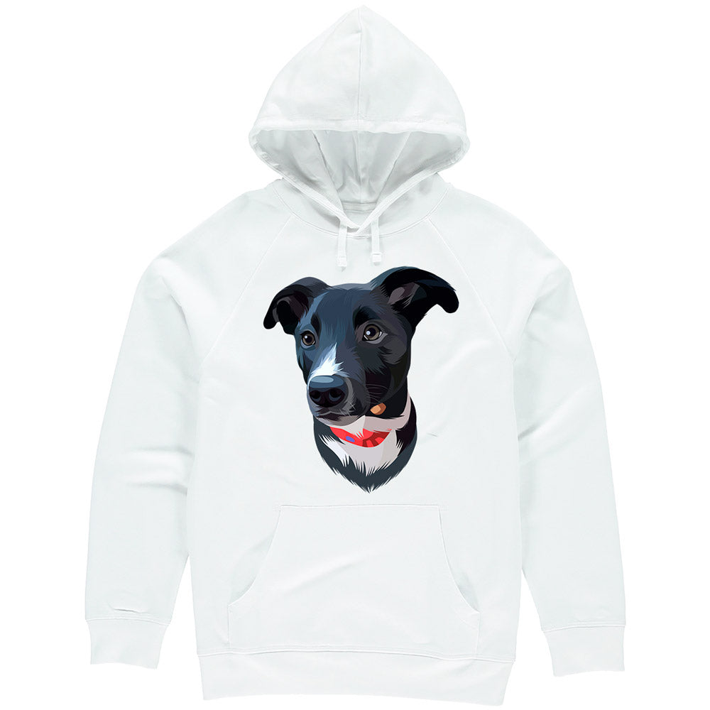 Bespoke illustrated pet hoodie - lovepaw